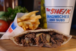 The Sheik Steak in a Sack Combo