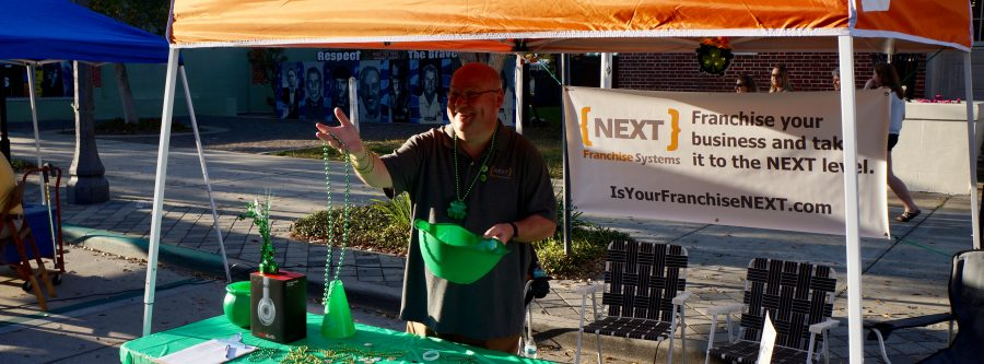 NEXT participates in St. Patrick's Day street party